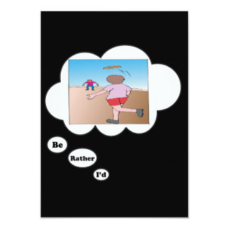 I'd rather be playing Flying Disc 3 13 Cm X 18 Cm Invitation Card