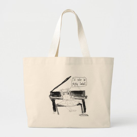 I'd Rather Be Playing Football Large Tote Bag