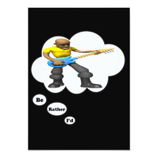 i'd rather be playing Guitar 10 5x7 Paper Invitation Card