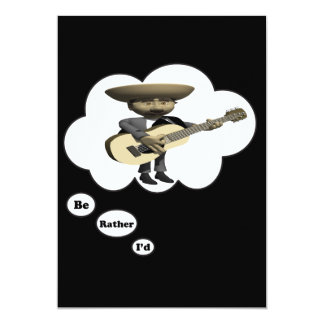 i'd rather be playing Guitar 11 13 Cm X 18 Cm Invitation Card