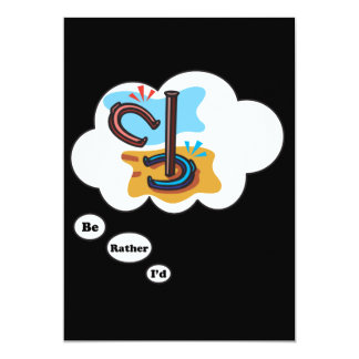 I'd rather be playing Horse Shoes 13 Cm X 18 Cm Invitation Card