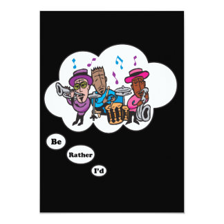 i'd rather be playing Jazz 5 13 Cm X 18 Cm Invitation Card