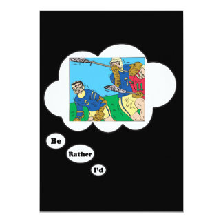 I'd rather be playing Lacrosse 5x7 Paper Invitation Card