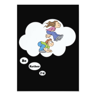 I'd rather be playing Leap Frog 3 13 Cm X 18 Cm Invitation Card