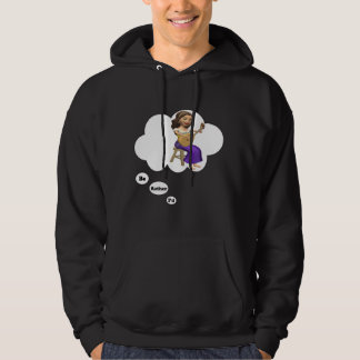 i'd rather be playing Lute Hooded Sweatshirt