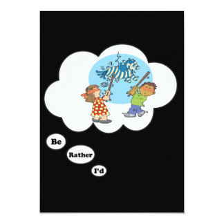 I'd rather be playing Party Games 13 Cm X 18 Cm Invitation Card