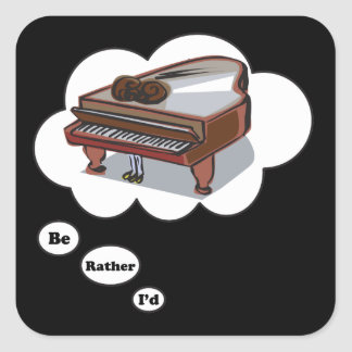 i'd rather be playing Piano 8 Stickers