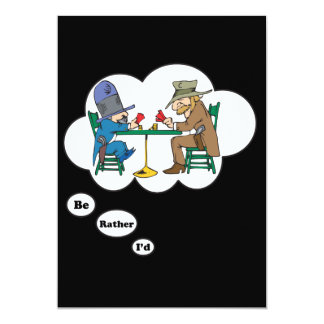 I'd rather be playing Poker 2 13 Cm X 18 Cm Invitation Card