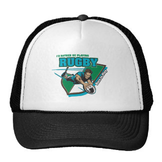 I'd Rather Be Playing Rugby Trucker Hats