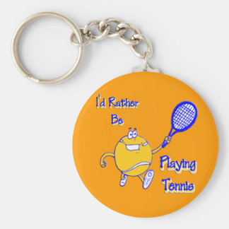 I'd Rather Be Playing Tennis Key Ring