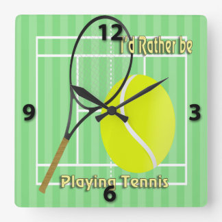 I'd Rather Be Playing Tennis Wall Clock