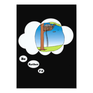 I'd rather be playing Tree House 3 13 Cm X 18 Cm Invitation Card