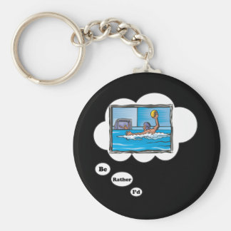 I'd rather be playing Water Polo 3 Basic Round Button Key Ring