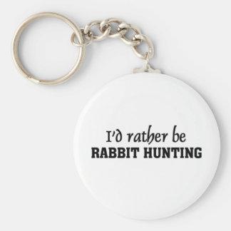 I'd rather be rabbit hunting key ring