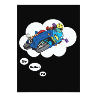 """I'd rather be Racing 5 5"""" X 7"""" Invitation Card"""