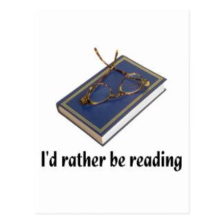 I'd rather be reading postcards