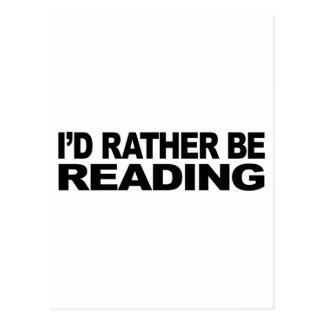 I'd Rather Be Reading Postcard