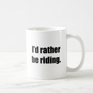 I'd Rather Be Riding Basic White Mug