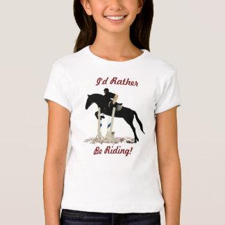 I'd Rather Be Riding! Equestrian Kids T-Shirt