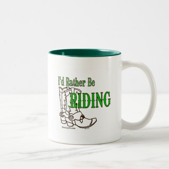 I'd Rather Be Riding Two-Tone Coffee Mug