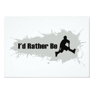 I'd Rather Be Rollerblading 13 Cm X 18 Cm Invitation Card