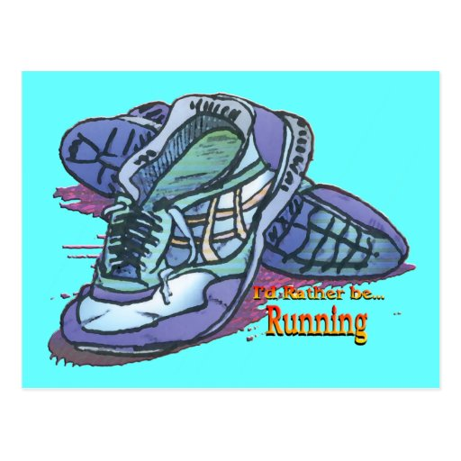 I'd Rather Be Running - Sneakers Postcards