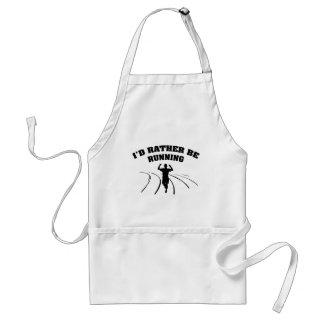I'd Rather Be Running Standard Apron