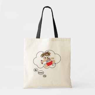 I'd rather be Running Track Budget Tote Bag
