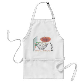 I'd Rather Be Shooting Hoops Standard Apron