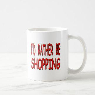 i'd rather be shopping basic white mug