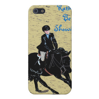 I'd Rather Be Showing Equestrian Speck Case iPhone 5/5S Cases