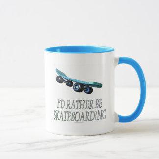 I'd rather be skateboarding (mug) mug
