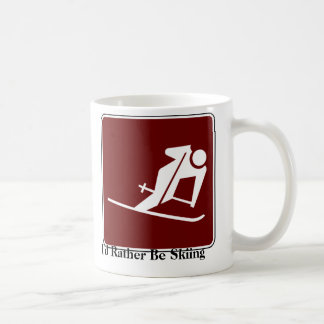 I'd Rather Be Skiing Coffee Mug