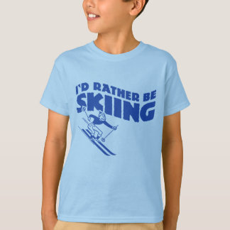 I'd Rather Be Skiing (male) Tshirts