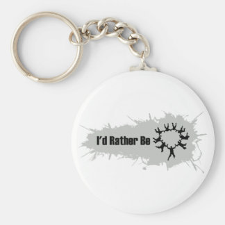 I'd Rather Be Skydiving Basic Round Button Key Ring
