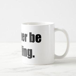I'd Rather Be Sledding Basic White Mug