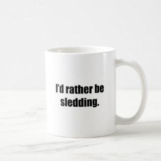 I'd Rather Be Sledding Mugs