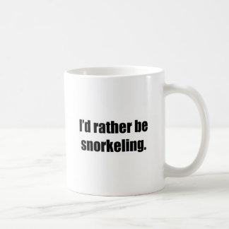 I'd Rather Be Snorkeling Basic White Mug