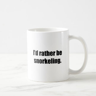 I'd Rather Be Snorkelling Basic White Mug