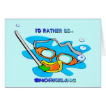 I'd Rather be Snorkelling Greeting Card
