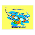 I'd Rather be Snorkelling Postcard