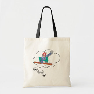 I'd rather be Snowboarding Tote Bags