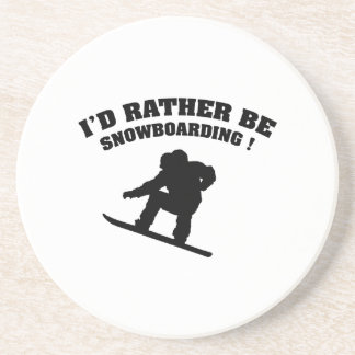 I'd Rather Be Snowboarding Beverage Coasters