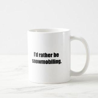 I'd Rather Be Snowmobiling Basic White Mug