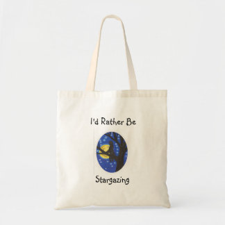 I'd rather be stargazing tote bag