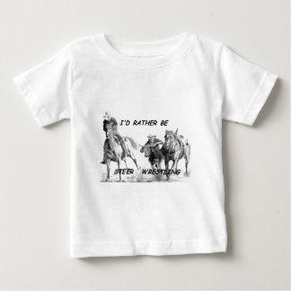 I'd Rather Be Steer Wrestling T Shirt