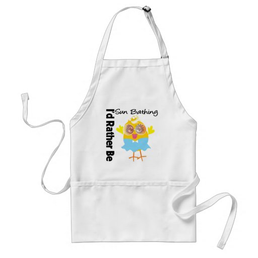 I'd Rather Be Sun Bathing Chick Apron