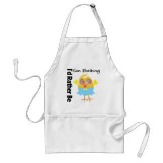 I'd Rather Be Sun Bathing Chick Aprons