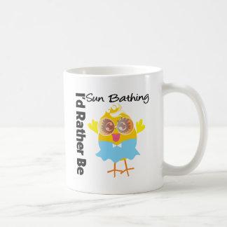I'd Rather Be Sun Bathing Chick Coffee Mug