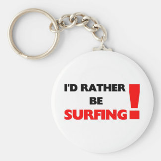 I'd rather be surfing basic round button key ring